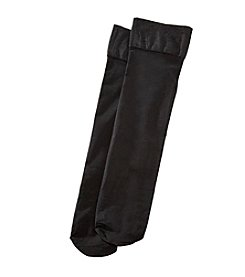 HUE® Revitalizing Opaque Black Knee-Hi Socks