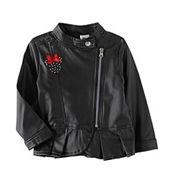Nannette® Girls' 2T-4T Minnie Mouse Peplum Jacket