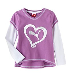 Puma® Girls' 2T-4T Heart Slider Tee