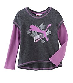 Puma® Girls' 2T-4T I'm A Star Long Sleeve Tee