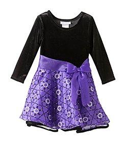 Bonnie Jean® Girls' 2T-4T Purple Velvet Dress