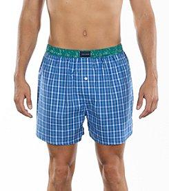 Tommy Hilfiger® Men's Cobalt Plaid Woven Boxer