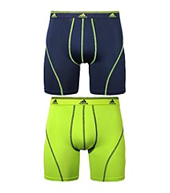 adidas® Men's Indigo Slime 2-pack Sport Performance Boxer Brief