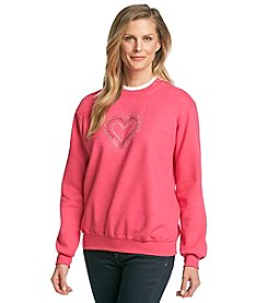 Morning Sun® Jeweled Heart Spray Sweatshirt
