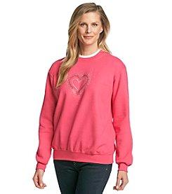 Morning Sun® Jeweled Heart Spray Sweatshirt