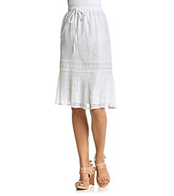 Studio West Solid Short Lace Skirt