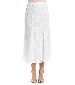 Studio West Solid Lace Long Skirt