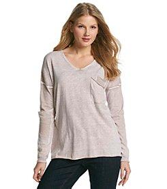 Democracy V-Neck Pigment Dyed Sweater