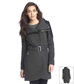 BCBGeneration™ Asymmetric Zip Belted Funnelneck