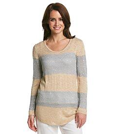 Oneworld® Scoopneck Sequin Sweater