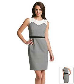 Nine West® Sheath Dress With Waist Detail