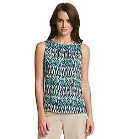 Kasper® Printed Pleatneck Cami
