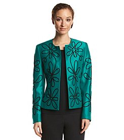 Kasper® Embroidered Flyaway Jacket