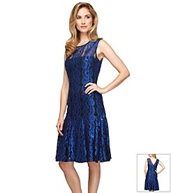 Alex Evenings® Lace Panel Dress