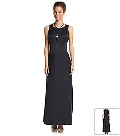 Nine West® A-Line Maxi Necklace Dress
