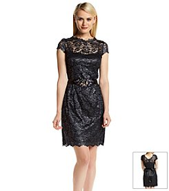 Adrianna Papell® Lace Scallop Neck Dress