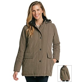 Forecaster Micro Two-Tone Hooded Coat