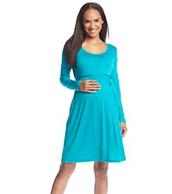 Three Seasons Maternity™ Long Sleeve Round Neck Solid Dress