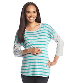 Three Seasons Maternity™ Stripe & Solid Top