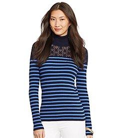 Lauren Ralph Lauren® Women's Striped Pointelle-Knit Sweater