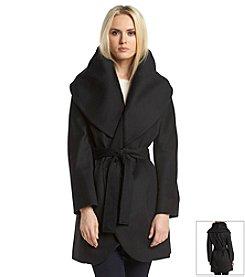 T Tahari® Marla Wrap Coat With Exaggerated Collar