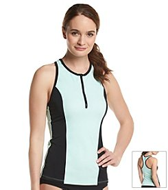 Reef® Colorblocked Racerback Rash Gaurd Swim Top