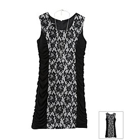 Amy Byer Girls' 7-16 Sleeveless Dress With Lace