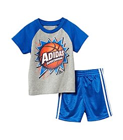 adidas® Baby Boys' 2-Piece Baller Shorts Outfit Set