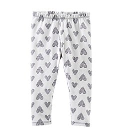 OshKosh B'Gosh® Girls' 2T-4T Heart Print Knit Leggings
