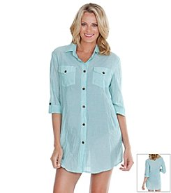 Dotti Summer Camp Shirt Dress Coverup