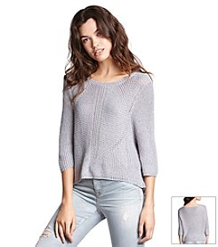 KIIND OF Shine Shirt-Tail Sweater
