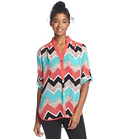 Sequin Hearts® Chevron Utility Shirt