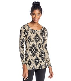 Living Doll® Diamond Print Sweater Tunic