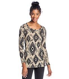 Living Doll® Diamond Print Sweater Tunic