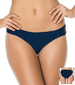 Jessica Simpson Embroidered Beauty Side Shirred Hipster Bottoms