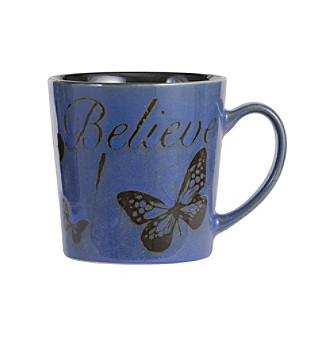"Pfaltzgraff® Everyday Inspirational Blue ""Believe"" Mug"