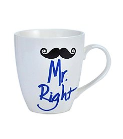 Pfaltzgraff® Mr Right Mustache Mug