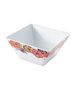 LivingQuarters Tropical Square Cereal Bowl