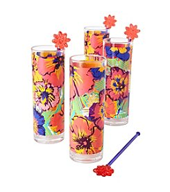 LivingQuarters Tropical Drinking Glasses