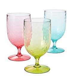 LivingQuarters Hammered Drinking Glass