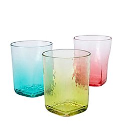 LivingQuarters Hammered Double Old Fashioned Glass