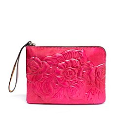 Patricia Nash Cassini Tooled Rose Wristlet