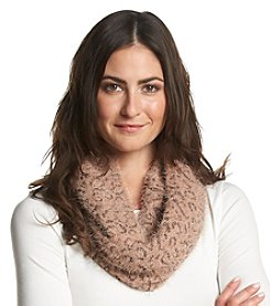 Collection 18 Feather Lurex Animal Loop Scarf
