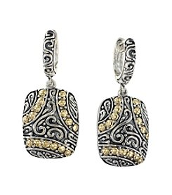 Effy® Balissima Collection Drop Earrings in Sterling Silver & 18K Gold