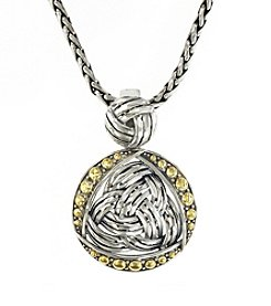 Effy® Balissima Collection Pendant in Sterling Silver & 18K Gold
