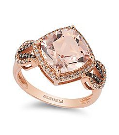 Effy® Morganite & 0.35 ct. t.w. Diamond Ring in Rose Gold