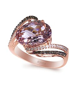 Effy® Morganite & 0.26 ct. t.w. Diamond Ring in Rose Gold