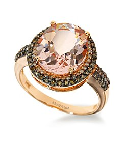 Effy® Morganite & 0.45 ct. t.w. Diamond Ring in Rose Gold
