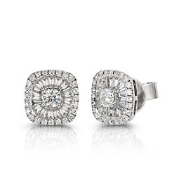 Effy® 0.62 ct. t.w. Diamond Earrings in White Gold