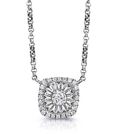 Effy® 0.30 ct. t.w. Diamond Pendant Necklace in White Gold